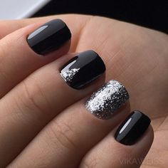 black-nails-cool-ideas-silver-glitter-triangle Gel Nail Art Polish Trends Part five 2018 Nail Art Polish Trends Gel Nail Designs 2018 Gel Nail Art 2018 New Nail Designs, Black Nail Designs, Art Designs, Design Ideas, Stiletto Nails, Toe Nails, Coffin Nails, Polish Nails, Shellac Nails Fall