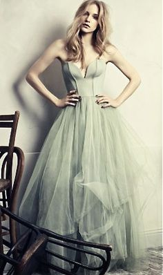 pale green tulle party dress #wedding #party