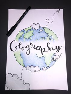 here's an idea for a geography cover page :) Geography Quotes, Geography Lesson Plans, Geography Quiz, Geography Worksheets, Geography Activities, Geography For Kids, Geography Revision, Gcse Geography, Physical Geography