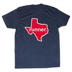 Mens Lifestyle Runners Tee Texas Runner (Red/White) | Running Mens Cotton Tshirts