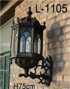 Architectural & Garden WALL SCONCE LIGHT FIXTURE LAMP OUTDOOR BRICK COLUMN LIGHTING CAST ALUMINUM GATE