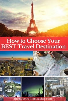 How to Choose Your Best Travel DestinationAre you looking for the perfect travel destination but don't know how-to-choose the right one? Use these practical tips and tools with a dash of travel inspiration to plan the trip or vacation of your dreams! #travel #TravelTips #travelplanning #travelplanner #bucketlist
