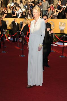 "Tilda Swinton. Loved her style ever since ""Orlando"" (watch it!)"