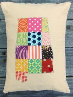 """CHOOSE YOUR STATE - State Love Pillow Sham - 12"""" x 16"""". $45.00, via Etsy."""