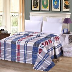 Plaid flannel blanket on the sofa,1.2/1.5/1.8/2m size fleece blanket/throw blanket for home/hotel bed,100% polyester bedding