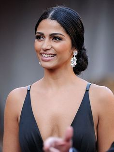 Get the Look: Camila Alves's Sophisticated Updo - All For Hairstyles Low Bun Wedding Hair, Bridal Hairstyle Indian Wedding, Bridal Hair Updo, Wedding Hair And Makeup, Wedding Hairstyles Tutorial, Bun Hairstyles For Long Hair, Wedding Hairstyles With Veil, Indian Hairstyles, Bridal Hairstyles
