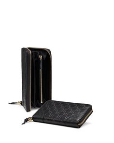 Bree Guccissima Leather Zip Around Wallet, Black by Gucci at Neiman Marcus. $610