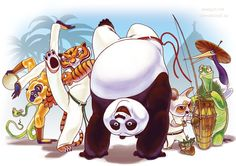 Kung fu panda capoeira
