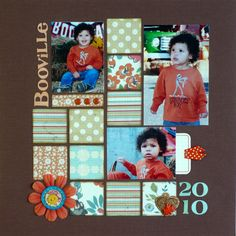 Booville - Scrapbook.com  Great use of colors & patterns! :)