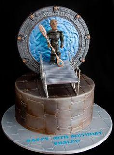 Stargate 40th Birthday Cake