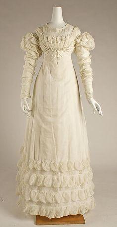 Dress (image 1) | European | 1818 | cotton | Metropolitan Museum of Art | Accession Number: 1981.13.3