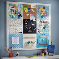 Create your own custom wall organization board with Board Dudes cork tiles.