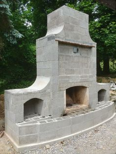 Build Outdoor Fireplace, Outdoor Stone Fireplaces, Outside Fireplace, Outdoor Fireplace Designs, Backyard Fireplace, Fire Pit Backyard, Fireplace Ideas, Backyard Pavilion, Backyard Patio Designs