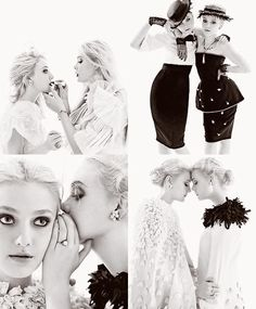 Dakota Fanning and Elle Fanning! Pretty People, Beautiful People, Nice People, Beautiful Things, White Photography, Fashion Photography, Sister Photography, Foto Fantasy, Se Lever