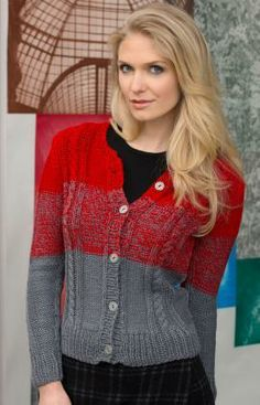 Colour-Changing Cardi By Lorna Miser - Free Knitted Pattern - (ravelry)