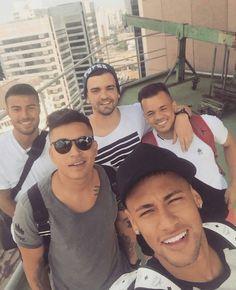 Neymar and RAFINHA alcantara with friends