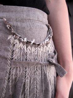 Вышивка по складкам / Вышивка / Своими руками - выкройки, переделка одежды, декор интерьера своими руками - от ВТОРАЯ УЛИЦА