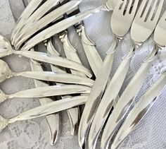 Flair by 1847 Rogers Bros. Silverplate Flatware Set/Service for 12 Plus Hostess Set by EastSideBazaar on Etsy