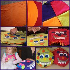Monster Pillow Craft For Kids   DIY tutorial for kids to make their own pillow at a birthday party or Halloween.  Also makes a wonderful party favor.