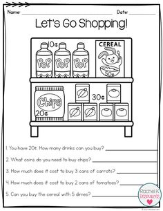 Students can practice identifying, counting, adding, drawing, and more with coins! Word problems are also included! Teaching Money, Student Teaching, Teaching Kids, Money Worksheets, 1st Grade Math Worksheets, Second Grade Math, Grade 2, Homeschool Math, Homeschooling