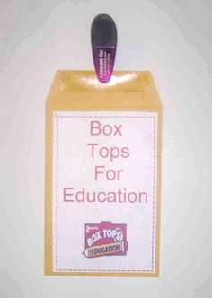 Use gift bags or envelopes to create home collection bags for school supporters. It's an easy reminder for parents to clip and turn in their Box Tops.