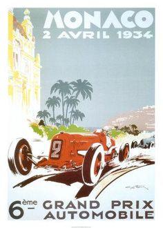 Idée pour Philippe - Affiche & posters.com vous présente l'affiche  de Géo HAM nommée Monaco 1934
