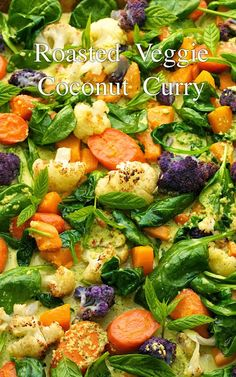 The most beautiful, most fun vegetable dish! Oh, and it's just loaded with fabulous flavor! Roasted Veggie Coconut Curry