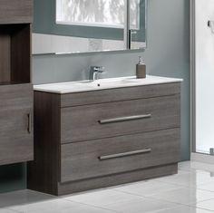 Cashmere 900 Double Drawer Floor Standing Vanity Basalt - RRP $1370