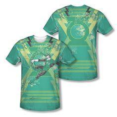 Green Lantern Hal Jordan Wield the Power Logo Sublimation ALL OVER T-shirt top Mens Sizes: S, M, L, XL, 2XL