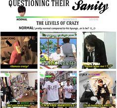 Infinite's level of sanity --> Sungjong = Normal