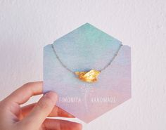 Golden Leaves Handsculpted Necklace. Handmade Jewerly by Fimonita on Etsy