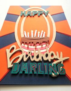 A 'RETRO' PERSPECTIVE!! Layers of hand cut paper shapes stacked up to create a 3D retro style birthday card  ‪#‎handmadecards‬ ‪#‎birthday‬ ‪#‎cake‬ ‪#‎candles‬ ‪#‎retrostyle‬ ‪#‎paperlayering‬ ‪#‎stacking‬ #papersculpture #darling
