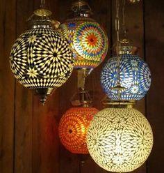 Mozaiek/oosterse lamp sfeerverlichting INDIA.Gratisverzenden