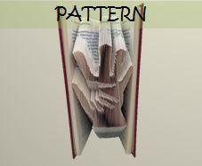 Book folding Pattern: HAND on HAND design by TheFoldedBookCompany