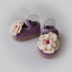 These are a great baby shower gift item!  Booties are made of 100% cotton yarn and are very soft for babys delicate skin. Mary Jane styling with