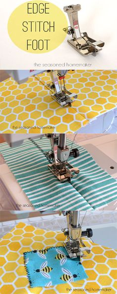 Ever wonder how sewists get perfect topstitching. The secret is to use an Edge Stitch Foot. Learn all about the secrets to this amazing presser foot. The Edge Stitch Foot - The Seasoned Homemaker