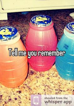 Tell me you remember