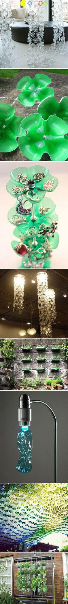 beauty from trash-upcycle plastic bottles craft