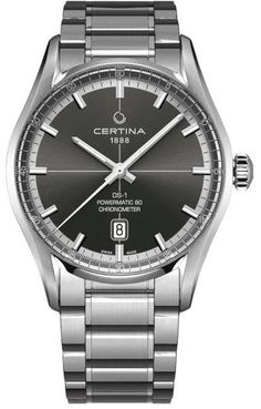Certina Watch DS-1 Powermatic 80 COSC #bezel-fixed #bracelet-strap-steel #brand-certina #case-material-steel #case-width-40mm #classic #cosc-yes #date-yes #delivery-timescale-7-10-days #dial-colour-grey #gender-mens #movement-automatic #official-stockist-for-certina-watches #packaging-certina-watch-packaging #style-dress #subcat-ds-powermatic-80 #supplier-model-no-c029-408-11-081-00 #warranty-certina-official-2-year-guarantee #water-resistant-100m