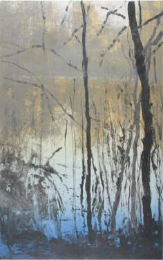 Forrest Moses monotype (etching ink spread on glass plate before taking one print onto paper. Landscape Art, Landscape Paintings, You Draw, Paintings I Love, Art Graphique, Gravure, Tree Art, Painting Inspiration, Art Prints