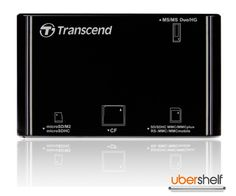 Transcend All-in-One Multi Card Reader - Black Flash Memory, Card Reader, All In One, Memories, Cards, Black, Memoirs, Souvenirs, Black People