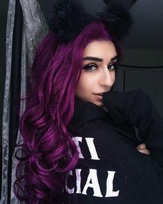 Purple hair is everything; purple wig;