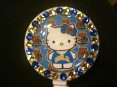 Hello Kitty UCLA Retractable ID Badge Holder by nickobash on Etsy, $10.00 Retractable Id Badge Holder, Id Badge Holders, Best Part Of Me, Hello Kitty, Party Ideas, Cats, Board, Fun, Style