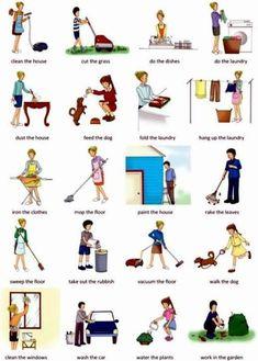 เรียนภาษาอังกฤษ ความรู้ภาษาอังกฤษ ทำอย่างไรให้เก่งอังกฤษ Lingo Think in English!! :): คำศัพท์ภาษาอังกฤษน่ารู้เกี่ยวกับ งานบ้าน Chores