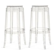 Check out this item at One Kings Lane! Clear Kent Barstools, Pair