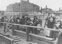 Landing at Ellis Island, ca. 1902 (Library of Congress Prints and Photographs Division)