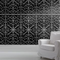 Wrought Metal Gate Wallpaper Standard Roll by Mineheart