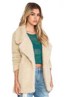 Abrigo de lana de kaleidoskopic.