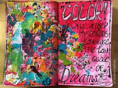 Color - art journal page - birgit koopsen
