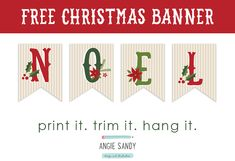 Freebie - Noel Bunting — Angie Sandy Design & Illustration
